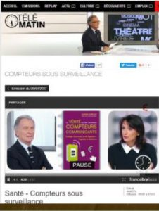 The Télématin emission speaks about the meters communicating and their impacts on health
