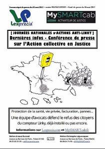 Journée nationale d'action anti Linky ! conférence de presse et action en justice collective